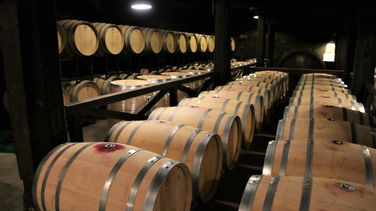 現在第二號石藏的改為熟成葡萄酒專用的儲藏庫
