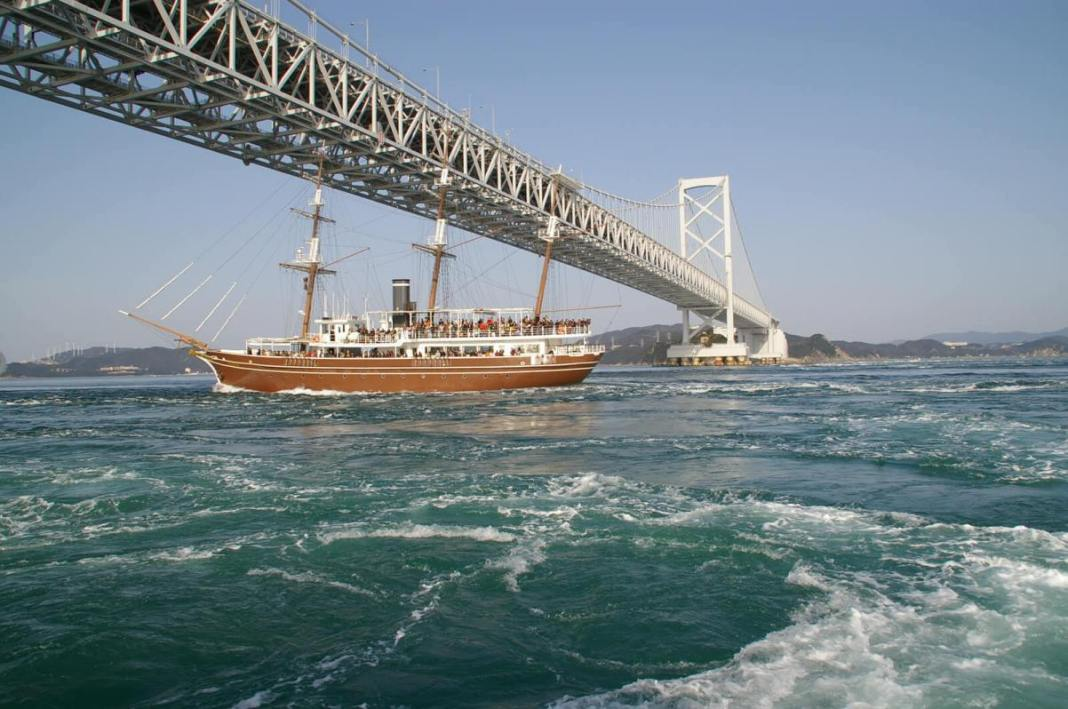Cruise under the Great Seto Bridge