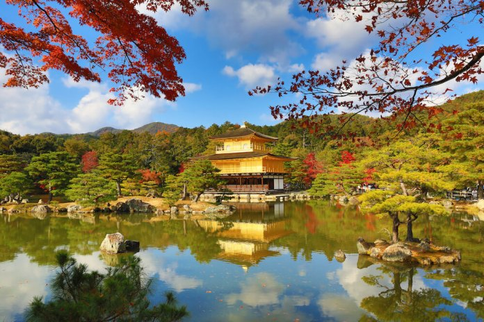 Kinkakuji Temple in Autumn Season