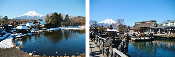 Oshino Hakkai and Mt Fuji together is photogenic from every angle