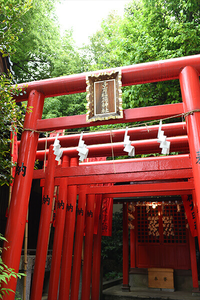 mitake shrine red torii owl ikebukuro