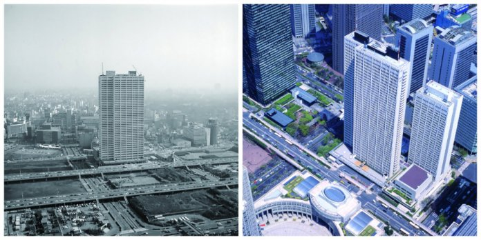 Keio Plaza Hotel then and now