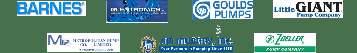 Sump pump manufacturer logos