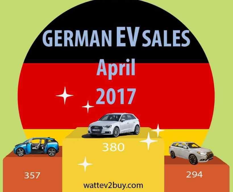 German EV sales up 82% year to date April 2017