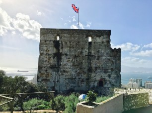 The Moorish Castle in Gibraltar.
