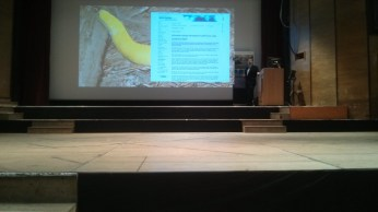Doom ahead, slide 9 - Laughable, cites decline of banana slug in CA, cites paper.
