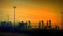 Oil Pipeline Pumping Station in rural Nebraska