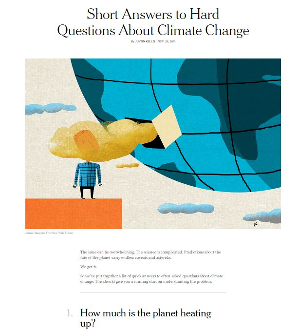 Response to the New York Times primer on climate change