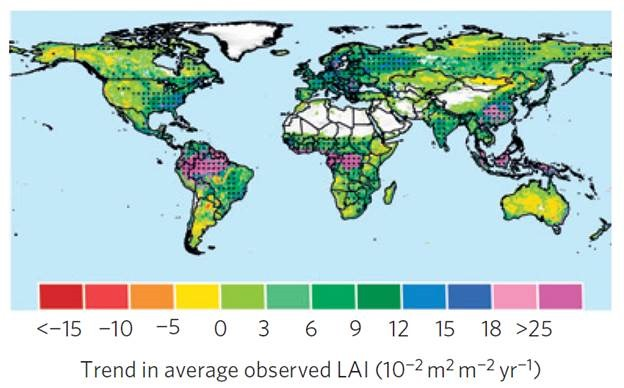 Study: Earth is becoming GREENER, not BROWNER due to climate change on