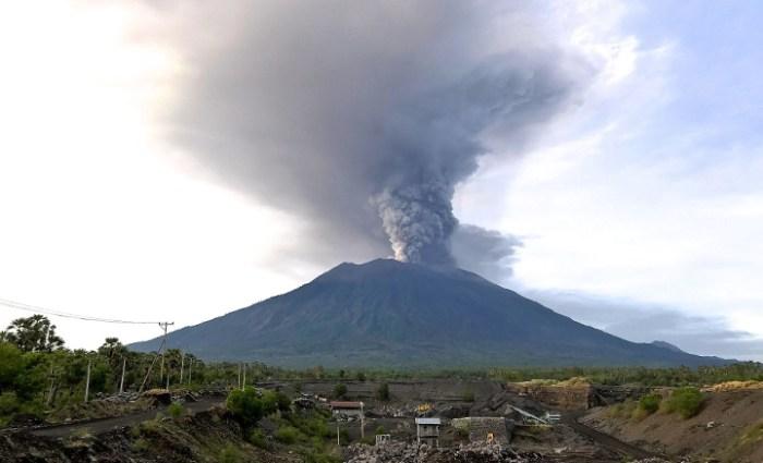 Bali Volcano Mount Agung November 2017 Eruption