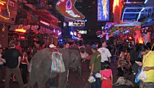 Soi Cowboy, a red light district in Bangkok.