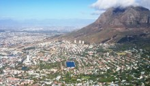 Cape Town city bowl and molteno reservoir.