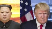 President Trump and North Korean dictator Kim Jong-un.