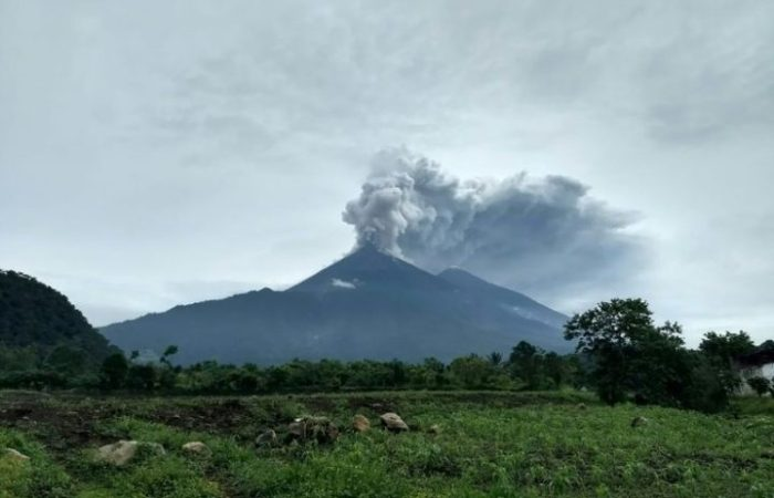 Fuego volcano injected large amounts of sulfur dioxide into