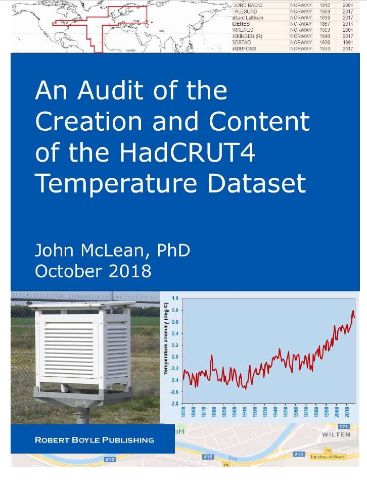 Met Office Responds To Hadcrut Global Temperature Audit By