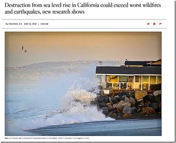 CA sea level rise alarmist study ignores 30 years of NOAA