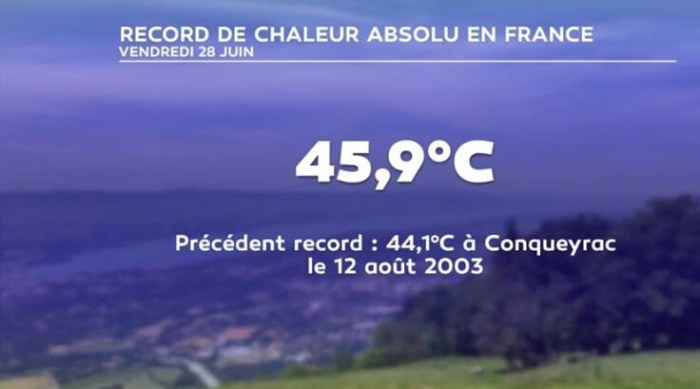 France's new 'hottest recorded temperature ever' is in