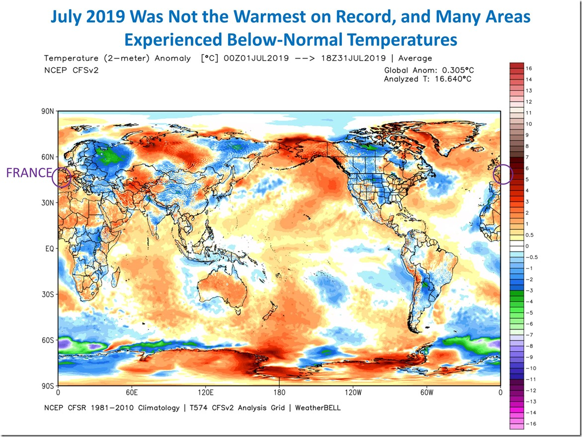 July 2019 Was Not the Warmest on Record | Watts Up With That?