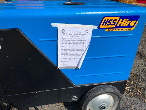 Climate change protesters admit using a diesel generator to