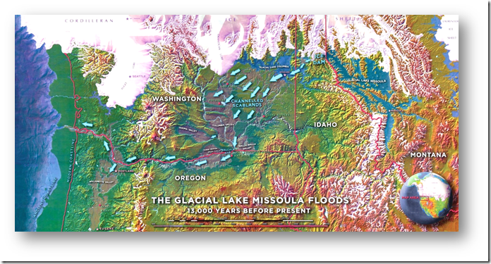 Map of the Glacial Lake Missoula floods (Tom Davis)