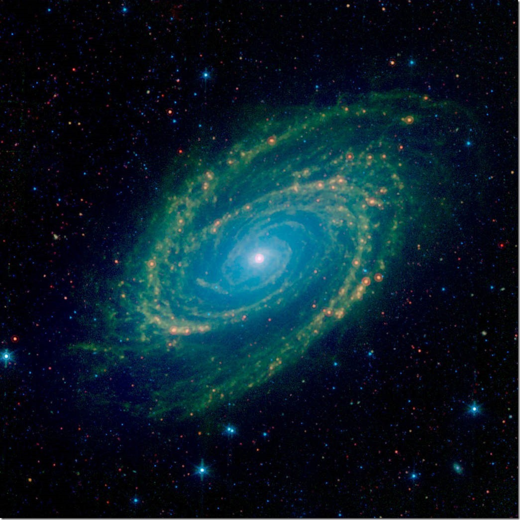 Full Infrared View of the M81 Galaxy