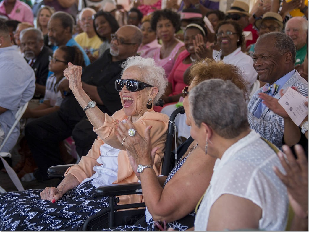 Katherine Johnson celebrates her 98th Birthday today August 26th and a historical marker and bench was unveiled to mark the occasion. The event took place by the Virginia Air and Space Center, NASA Langley's visitor center in Hampton, Va.