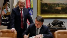 Bolsonaro with U.S. President Donald Trump at the White House