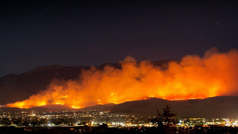 The Apple Fire burns north of Beaumont, Friday, July 31, 2020