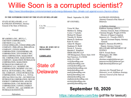 State of Delaware Lies About Willie Soon (as a scientist)