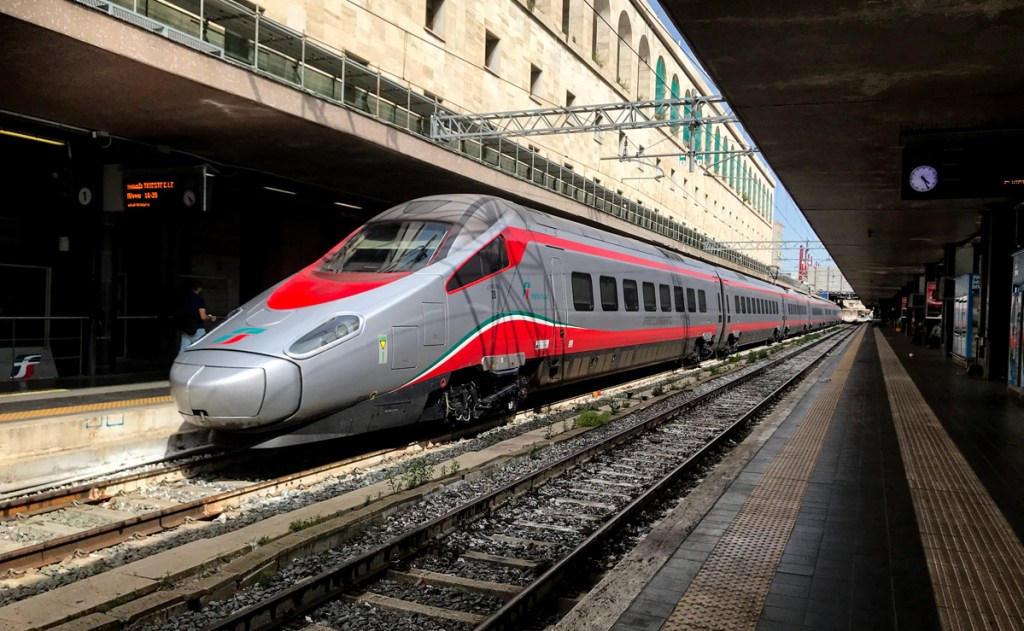 The high speed express trains from Trenitalia get you across Italy in hours