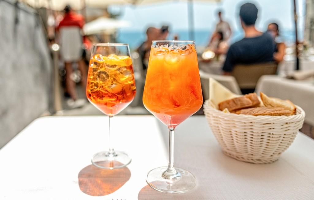 Visiting Cinque Terre, be sure to try a spritz or Campari