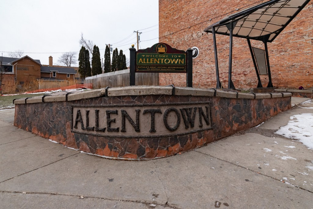 Allentown sign in Buffalo, New York