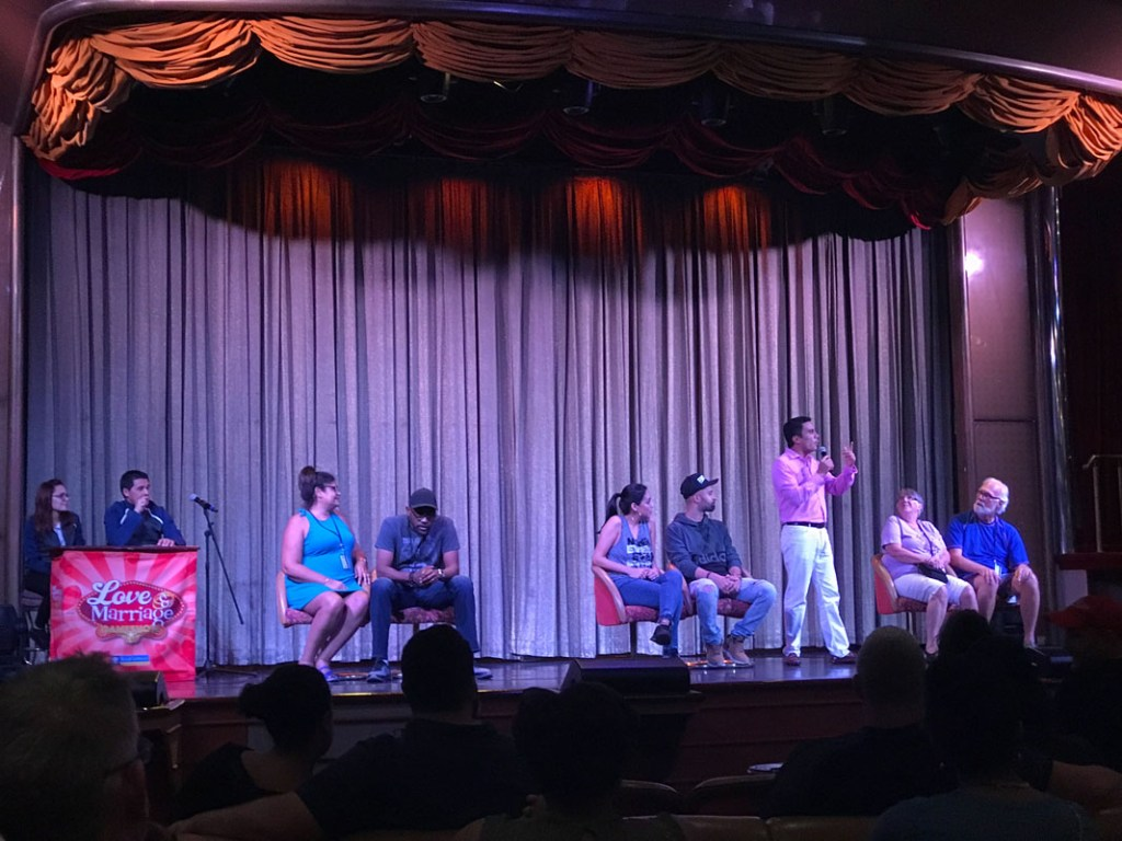Love and Marriage is a fun game show onboard the Royal Caribbean cruise