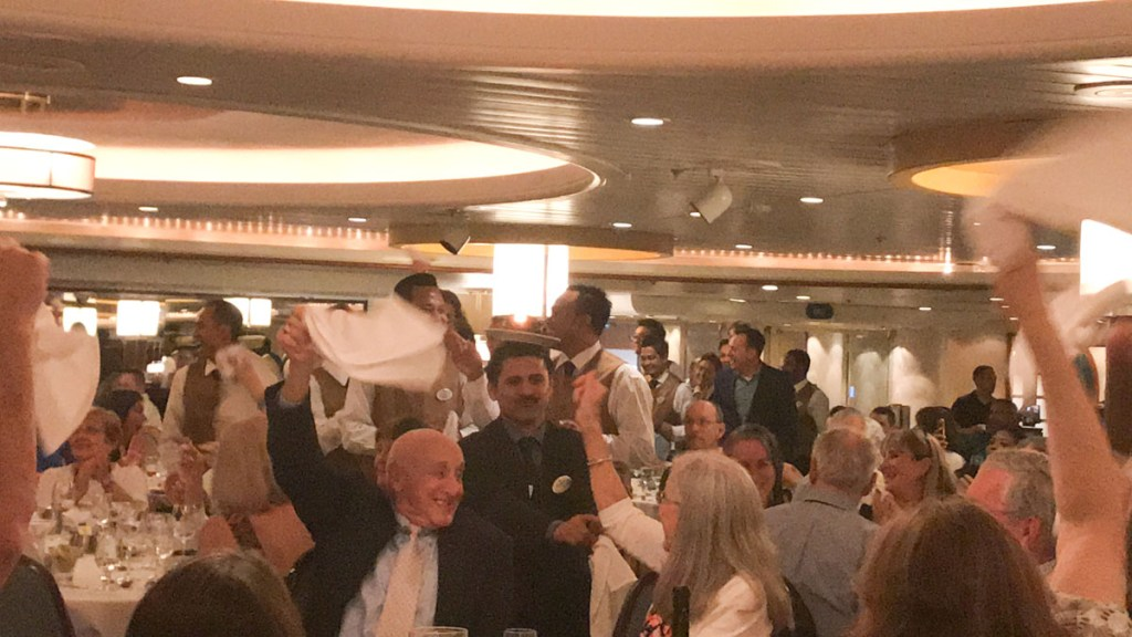 The dining at Starlight, the main dining room on the Majesty of the Seas was lacking