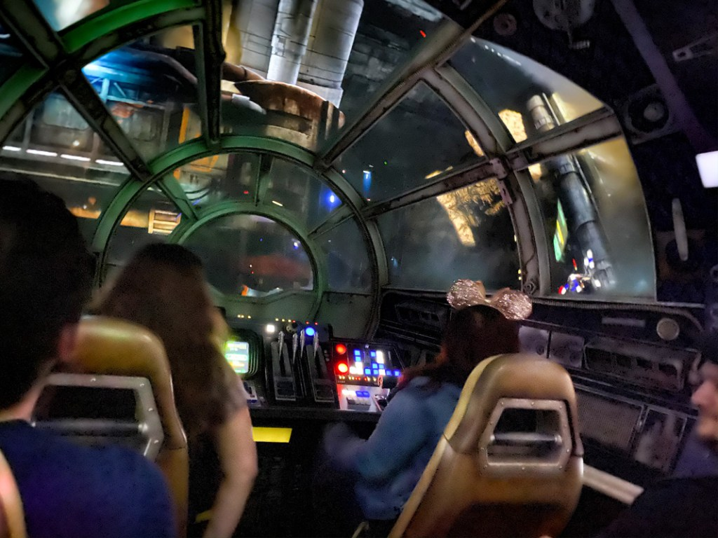 Star Wars Smugglers Run at Disneyworld is the cross between a flight simulator and a computer game