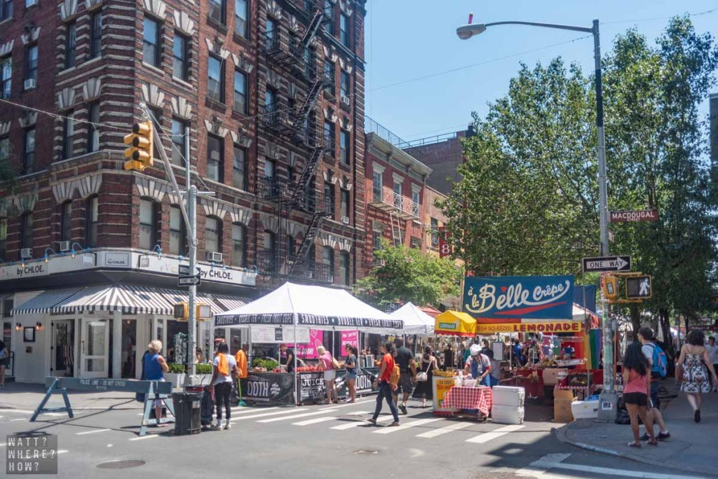 The intersection of Bleecker Street and MacDougal Street is a hotbed of pop culture activity over the last 100 years.