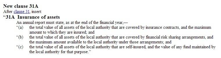 LGA 2002 Amendment Act 2014 New Clause 31A