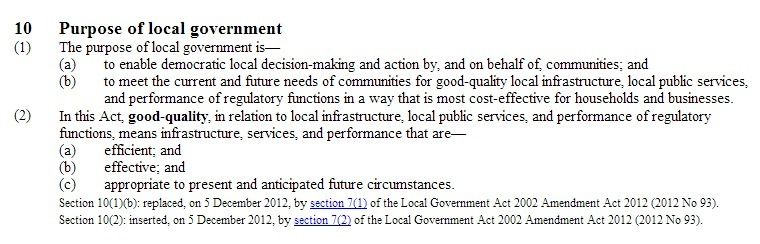 Local Government Act 2002 Purpose of local government