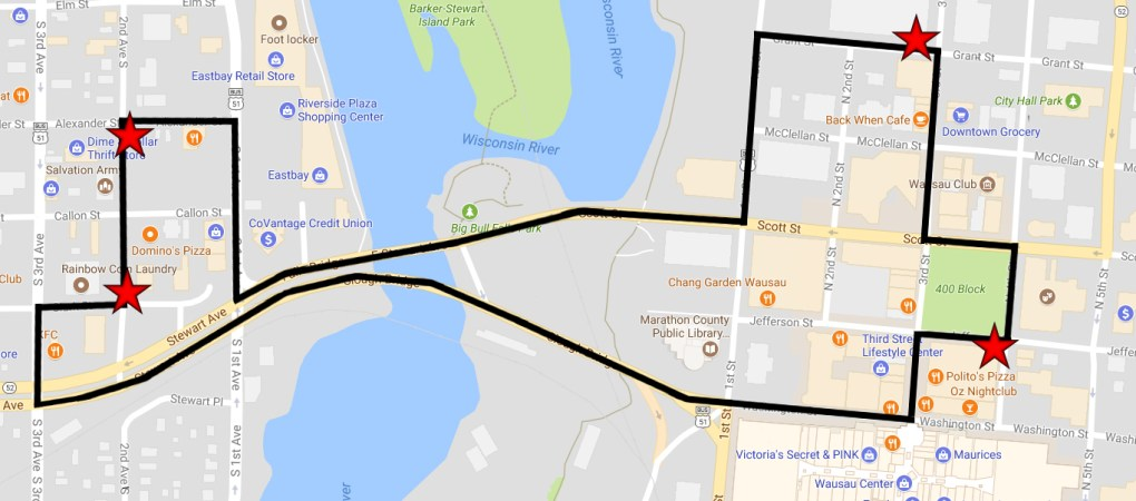 Trolley Route Map