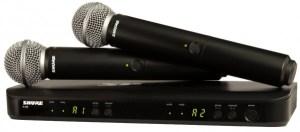 Радиомикрофоны SHURE BLX288E/PG58 - Аренда музыкального оборудования, Прокат звука