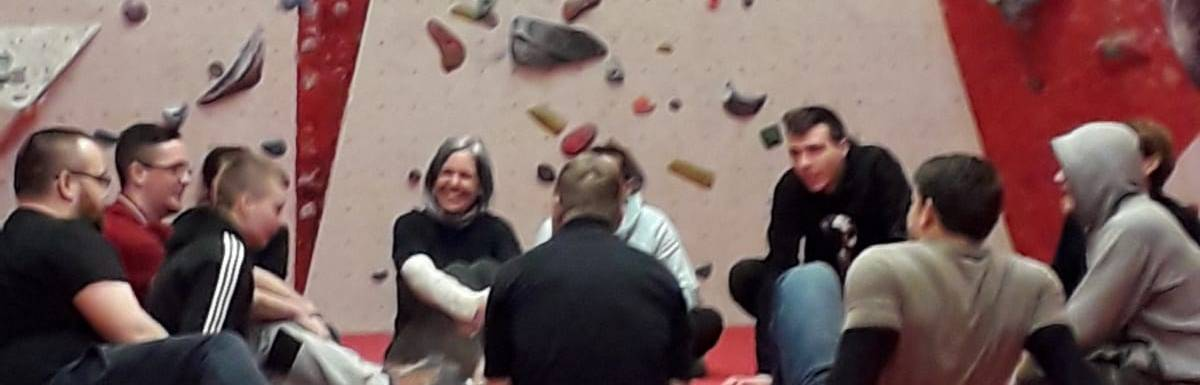 Fantastic day at Manchester Climbing Centre today to mark our awesome Peak Connections group's 1 year anniversary.