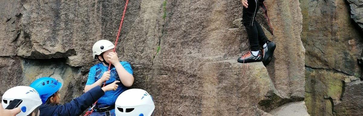 Children enjoy climbing at Brownstones