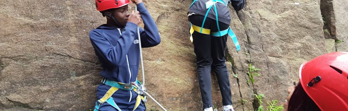 Brilliant climbing by young people