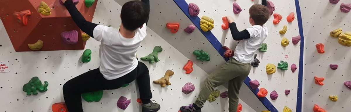 Confidence boosting children's  bouldering
