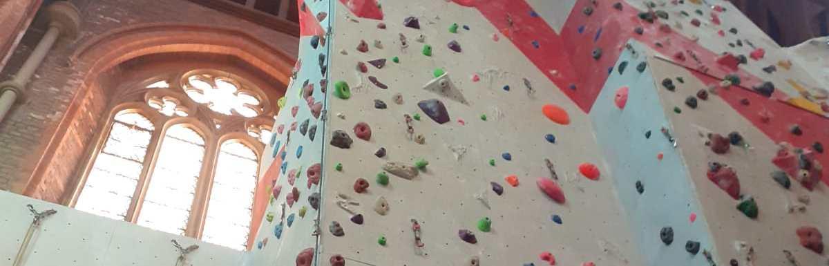 Great volunteer climbing