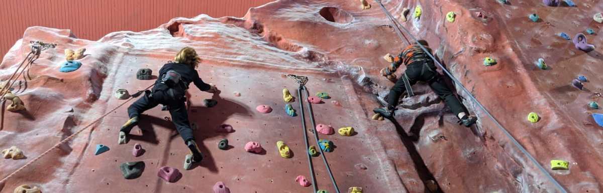 Confidence boosting children's climbing