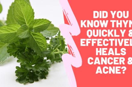 Did You know Thyme Quickly & Effectively Heals Cancer & Acne?
