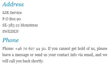 sjr service contact info