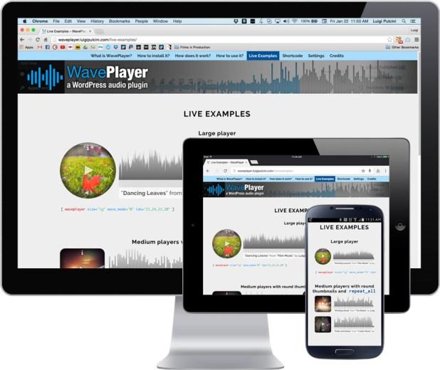 WavePlayer - a WordPress audio player