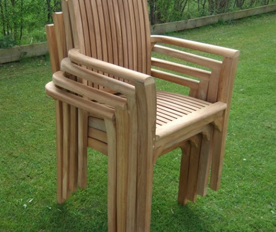 new in stock henley carver stacking teak chairs